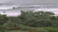 Stock Video Footage of Hurricane Hits Coastal Resort Strong Winds And Rain