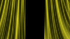 Gold curtain opening Stock Footage