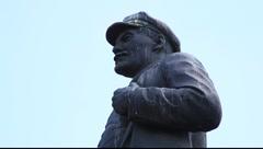 Profile of Vladimir Lenin Stock Footage