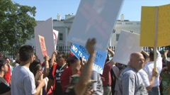 Immigration protest at White House Stock Footage