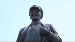 Vladimir Lenin with his cap on Stock Footage