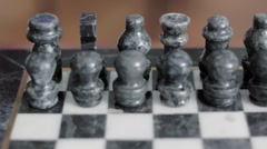 Chess peices dolly shot Stock Footage