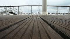 Walk on the pontoon Stock Footage