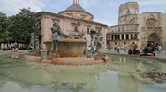 Stock Video Footage of Turia Fountain Valencia