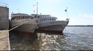 River Volga Cruise boats Stock Footage
