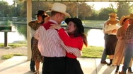 Stock Video Footage of Group of Country and Western Dancers 07