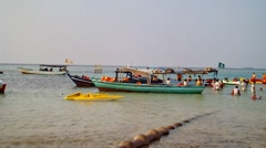 In the Beach of Tidung Island Jakarta Stock Footage