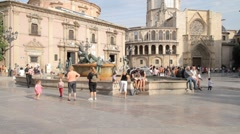Valencia Virgin Square Stock Footage