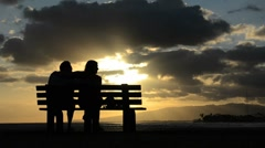 Romantic Sunset Couple Stock Footage