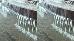 3D Animated fountain on Square of Europe in Moscow. Kiyevsky Rail Terminal. Stock Footage