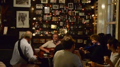 Irish live music in a pub. Stock Footage