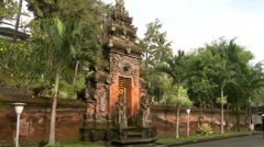 Guarded multi level gate in Pura TIRTA EMPUL Stock Footage