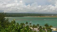 Puerto Rico-Arecibo Ocean Coast-Beach Boats Bay-Harbor Stock Footage