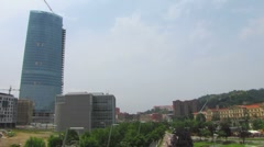 HD: City Bilbao With Iberdrola Tower Stock Footage