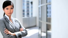 Portrait of a Successful Female Business Executive Stock Footage