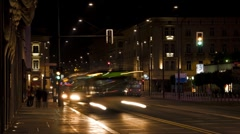 Night street timelapse Stock Footage