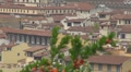 Panoramic view of the Florence's roofs, Italy HD Footage
