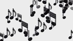 Plastic Music Notes and treble clef. Stock Footage