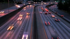 Two way traffic Stock Footage