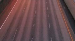 Traffic timelapce Stock Footage