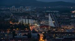 Night Timelapse Of Ljubljana, Slovenia Stock Footage