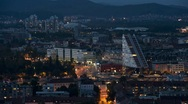 Stock Video Footage of Night Timelapse Of Ljubljana, Slovenia