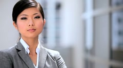Portrait of a Successful Female Asian Business Executive Stock Footage