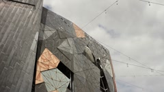Federation Square 2K Stock Footage