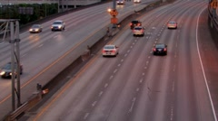 Freeway two way Stock Footage