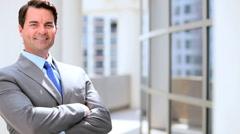 Portrait of a Successful Male Caucasian Business Executive - stock footage