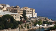 Stock Video Footage of Aerial view from Old fortress on the city, Kerkyra, Corfu island, Greece