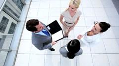 Team Building Handshake of Business People Stock Footage