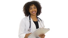 Doctor smiling at camera Stock Footage