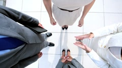 Team Building Handshake of Business People - stock footage