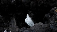 Stock Video Footage of Sea Cave Blow Hole