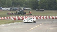 Hypercars on race track Stock Footage