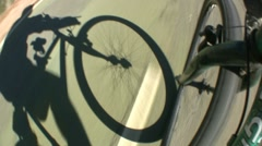 Man riding bicycle Stock Footage