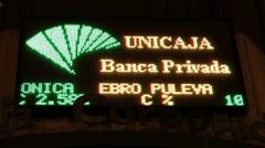 Spanish Stock Ticker Stock Footage
