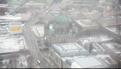 The dome of berlin from the top Stock Footage