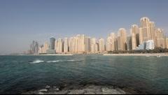 Jumeirah Beach Residence, Dubai Stock Footage