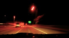 Tunnel night Stock Footage