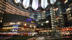 Sony Center of Berlin Stock Footage