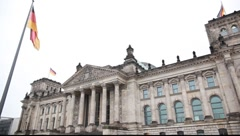 Reichstag of Berlin / Bundestag of Germany Stock Footage