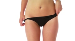 Stock Video Footage of Young fit woman in black underwear