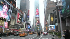 Times Square Taxi Traffic Stock Footage