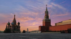 Kremlin Red Square Stock Footage