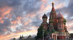 St Basil's Cathedral - stock footage