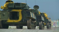 Stock Video Footage of Tanks on the move.