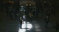 Timelapse crowds at Central Station, NY (Close up) Stock Footage