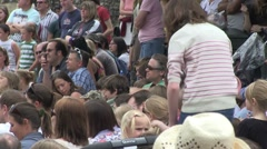 Backs on heads crowd 1901 Stock Footage